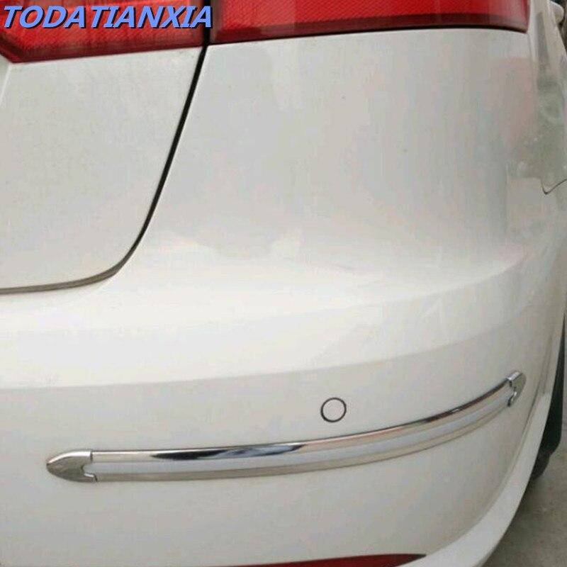 4 unids/set de parachoques del coche protector de pegatinas para toyota corolla hyundai creta lada priora skoda Octavia citroen c4 kia ix25 vw