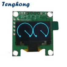 Tenghong 0.96 Inch OLED Music Audio Spectrum Indicator Amplifier Board Level Indicator Music Rhythm Analyzer Display Module DIY