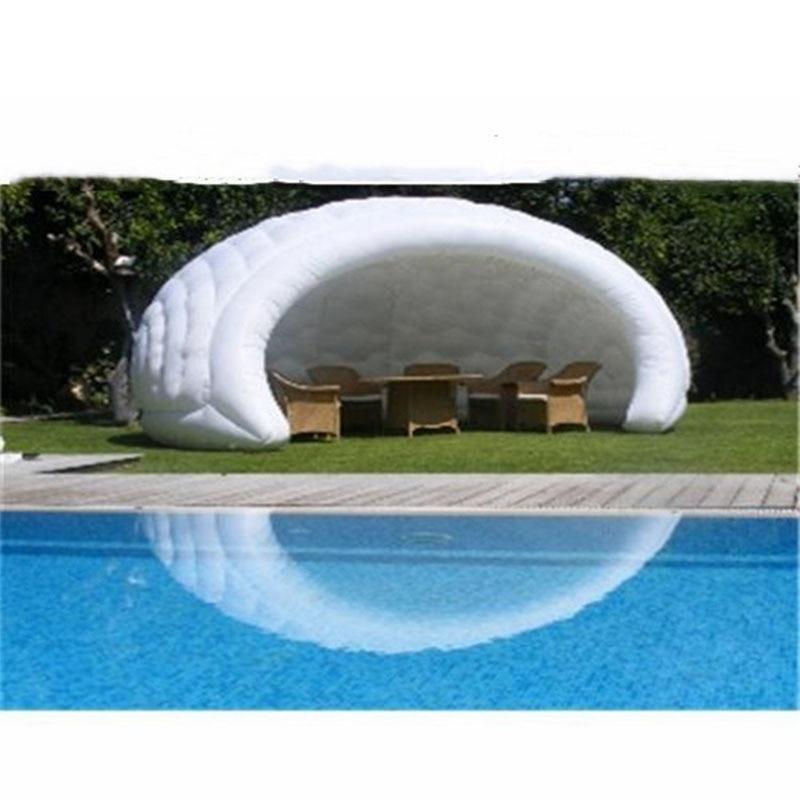 خيام مقببة قابلة للنفخ مخصصة خيمة تخييم صينية خيمة بيضاء شفافة نموذج الخيام