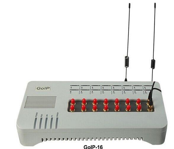 Precio bajo la mejor calidad VOIP GOIP 16 tarjetas sim GOIP-16 GSM Gateway 16 canales GOIP IMEI cambio