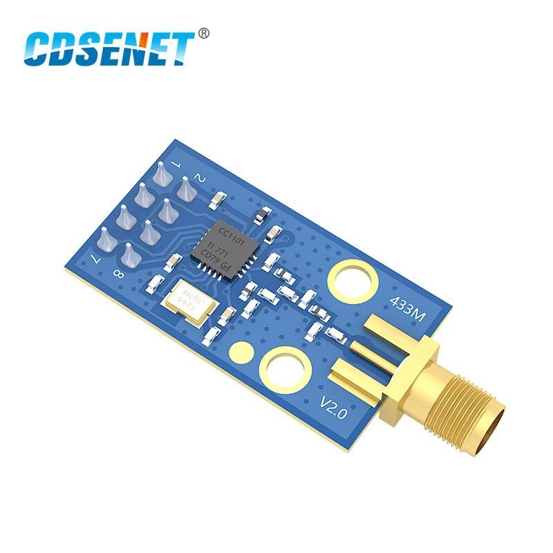 CC1101 433 MHz Módulo de radiofrecuencia transceptor CDSENET E07-M1101D-SMA Transmisión de larga distancia CC1101 433 MHz receptor y transmisor