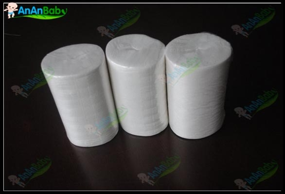 Frete grátis 3 rolos 100 folhas por rool biodegradável viscose flushable forros para fraldas de pano