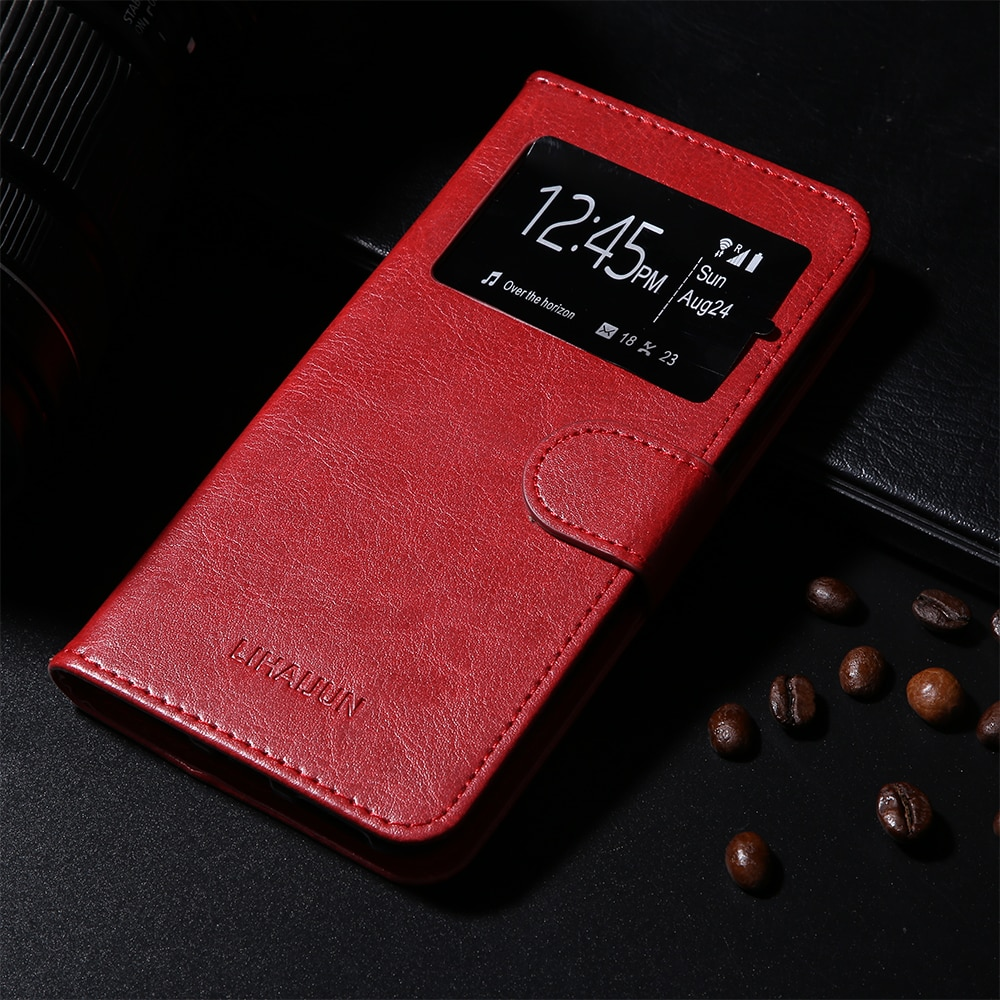 LIHAIJUN Vertex Sunset NFC Impress Spring Tiger Vega Vira Win Wolf Zeon 3G4G Case PU Leather Flip Cover Magnetic Fashion Shell
