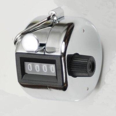Mini portero de mano plateado contador de 4 dígitos para deporte de Golf