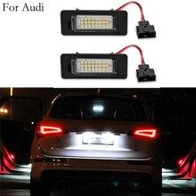 Ampoule à lampes SMD 3528 12V 3W   Pour Audi A1 A4 A5 A6 A7 Q5 TT TTS RS5 6000k, licence sans erreur, 2 pièces