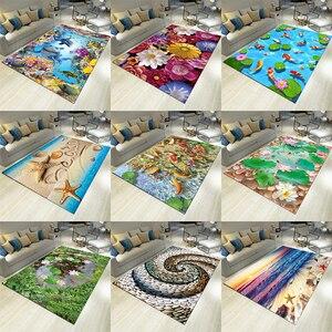 3D Living Room Sofa Tea Table Nordic Carpet Room Bedside Rectangular Bathroom Kitchen Door Mattress Customization Carpet Mat