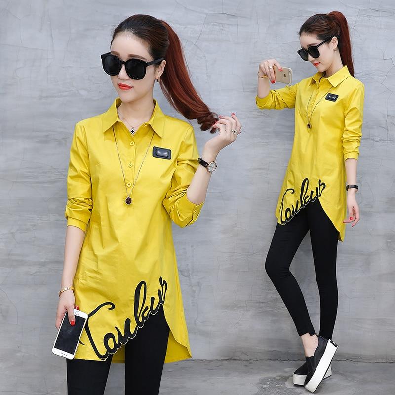 Shirt female spring new 2020 Han Fan thin fashion wild irregular long-sleeved spring shirt clothes tide