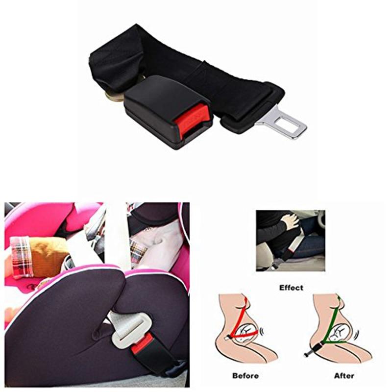 Cinturón de seguridad Universal para automóvil, extensor de extensión de cinturón de seguridad ajustable con hebilla y Clip para mujeres embarazadas, accesorios para coche
