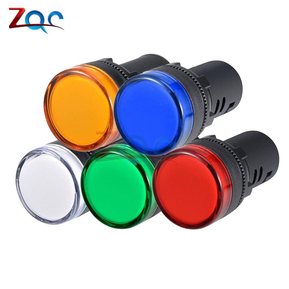 AD16-22DS montaje en Panel Flash LED Luz de indicador de alarma lámpara para señal de piloto Flash timbre AC 110V 220V 22mm