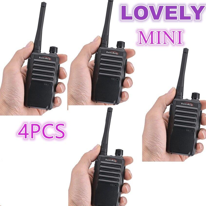 4PCS  PMR Walkie Talkie 5W Baofeng XUNLIBAO X1 Mini Two Way Radio Handheld Transceiver FRS Transceiver