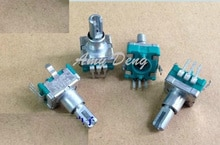 5 adet/grup japonya'nın EC11 tipi hassas potansiyometre B10k ile midpoint uzun eksen 15mm eksen 4mm