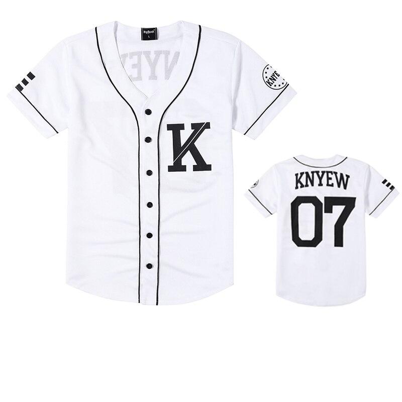 Summer New Fashion Mens Baseball Jersey Hip Hop Trend Retro University Of Striped Half Sleeve Black Shirt White Cotton Shirts