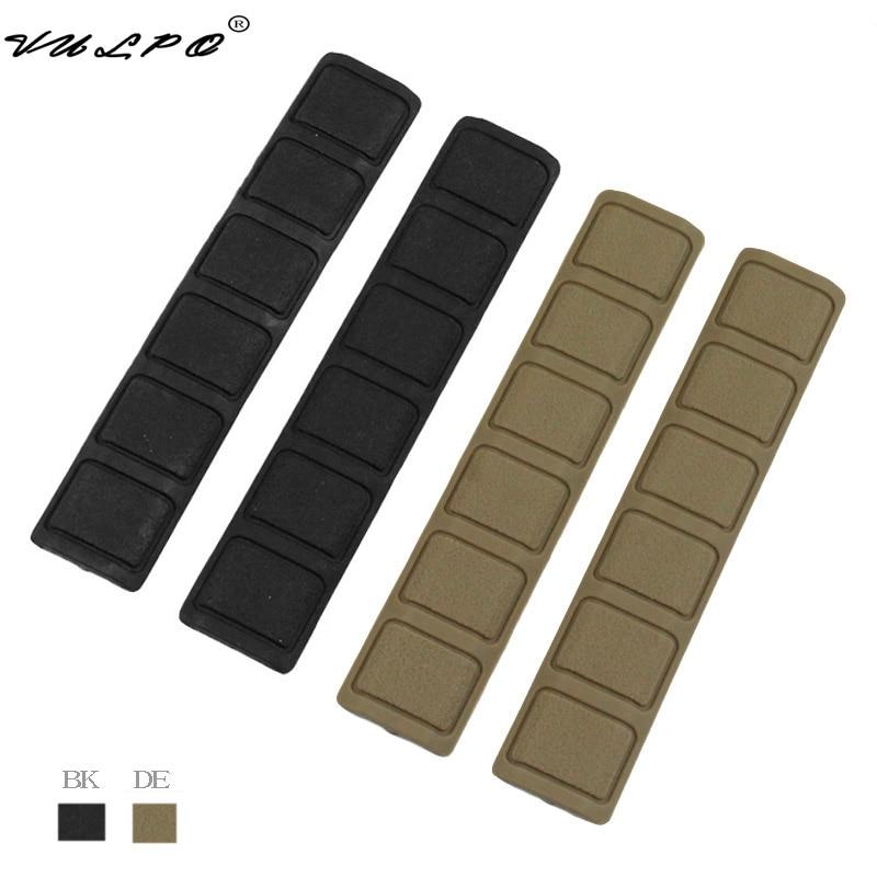 VULPO 4 unids/set Panel guardamanos cubierta de riel de goma suave para Keymod estilo guardamanos accesorios de caza