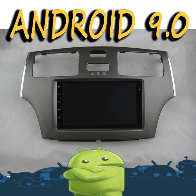 Android 10 radio magnétophone 8 cœurs voiture multimédia GPS Navigation pour TOYOTA WINDOM ES300 gris 08 lecteur vidéo tactile + cadre