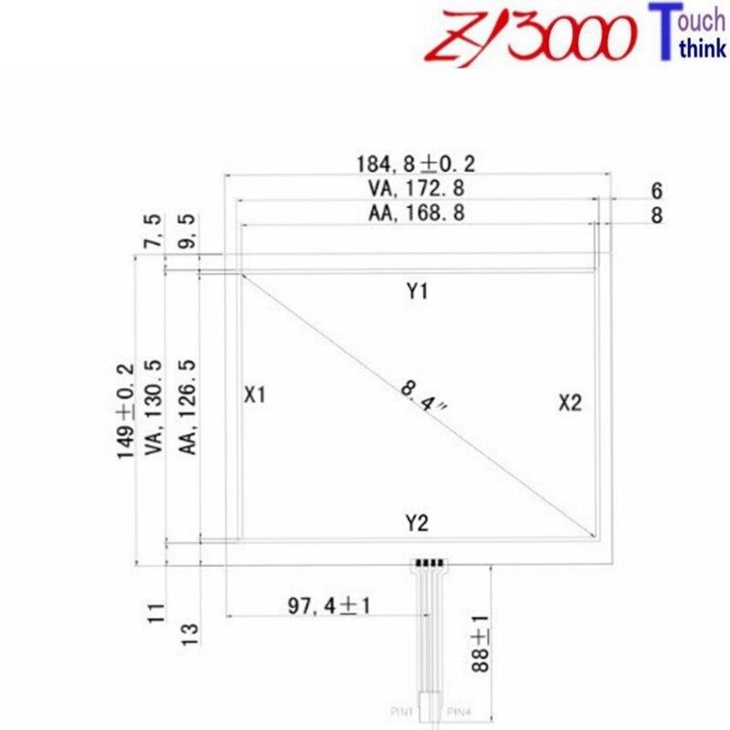 شحن مجاني 5 قطعة/الوحدة 8.3 بوصة 184*149 شاشة تعمل باللمس مقاوم لوحة