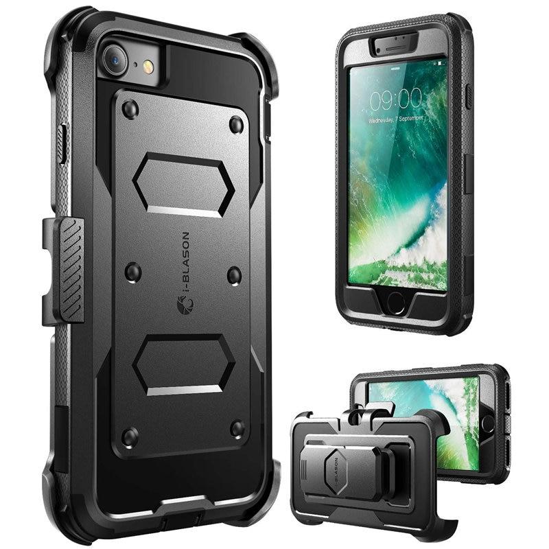 Carcasa para iPhone SE 2020, carcasa para iphone 7/8, carcasa para i-blason Armorbox, funda de parachoques resistente de cuerpo completo con Protector de pantalla incorporado