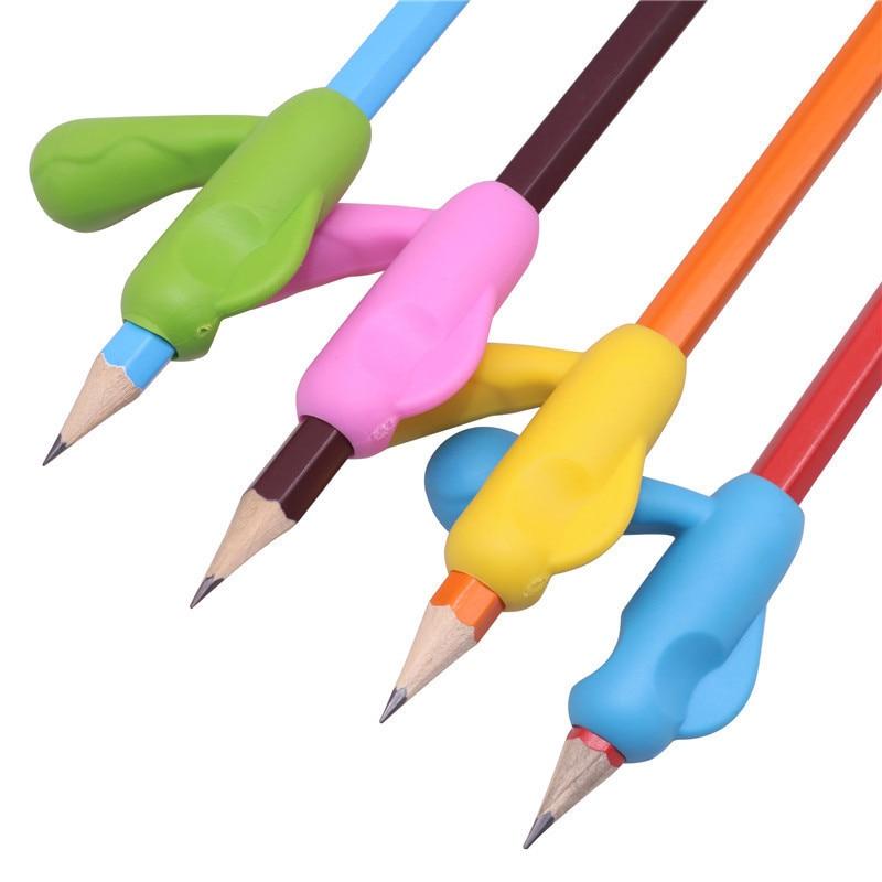 100 pièces stylo poignée Silicone orthèse tenant stylo crayon Posture correcte tenant stylo étudiant apprentissage papeterie outils auxiliaires