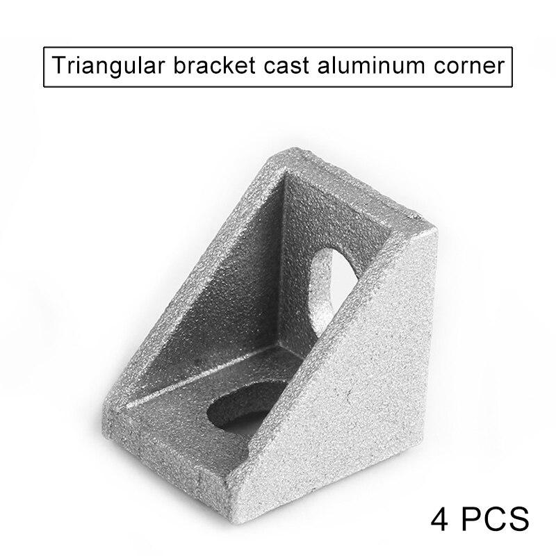 4 Uds 2020 sistema de aluminio ángulo código tuerca agujero soporte v-slot t-slot QJY99