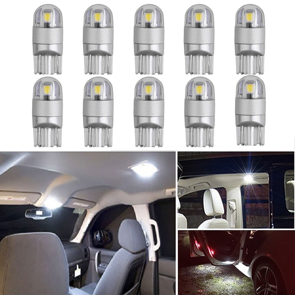 10 Uds T10 W5W bombilla LED Interior del coche maletero cúpula luces para Hyundai Getz acento Azera Elantra Santa Fe ix35 Sonata Tucson i40 i10