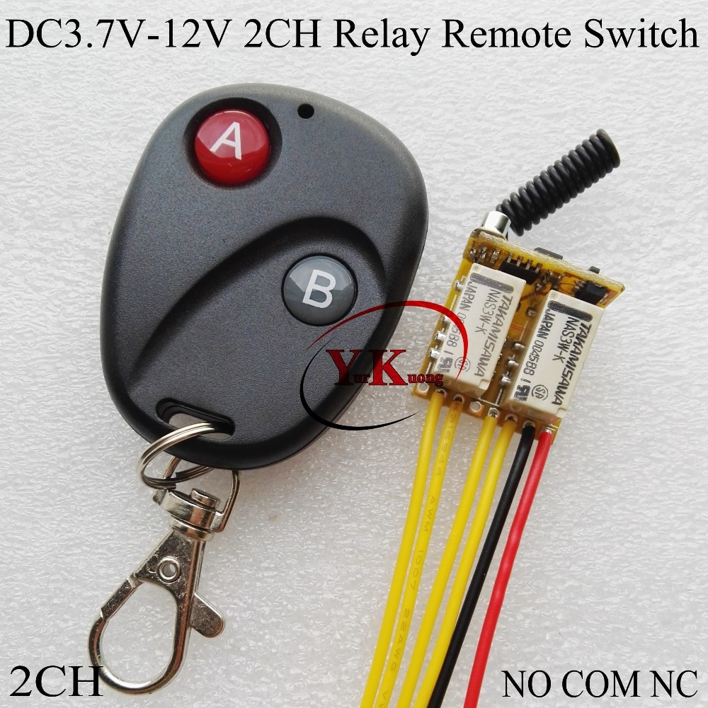 2 ch rele contato rf sem fio interruptor mini 2 canais interruptores remotos 42 v