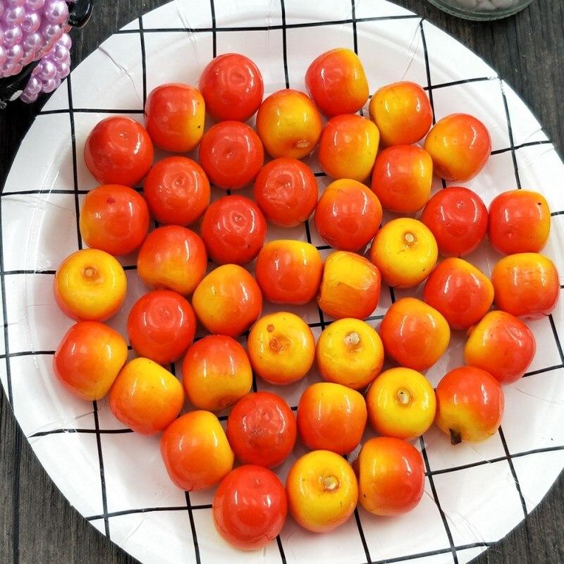 10 unids/lote de resina sólida simulación de fruta manzana 2mm Producción de joyas artesanales hallazgos diy casa de muñecas de Navidad