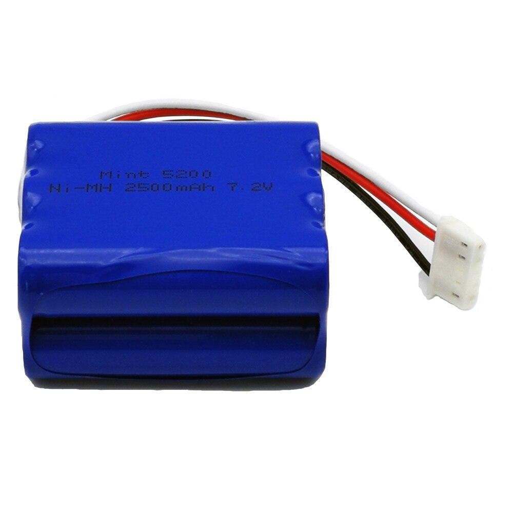 Batería de repuesto NI-MH 7,2 V 2500mAh para Irobot Mint 5200 5200B 5200C Braava 380t limpiador de suelos