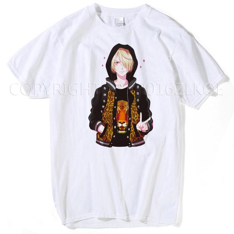 Yuri on ice футболка Новое поступление YURI! На льду футболки Yuri Plisetsky Косплей Аниме Cos футболка мужские футболки модные хип-хоп