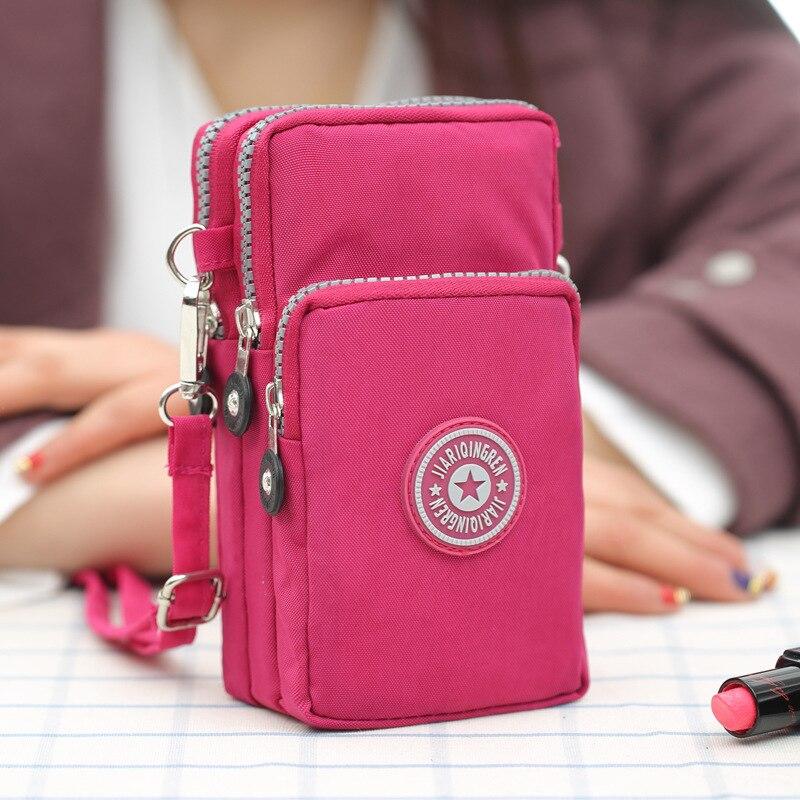 Nueva cartera Universal deportiva, bolsa de teléfono móvil para iPhone Xs X Samsung S9 Huawei, bolsa de bolsillo, funda para hombro con brazo al aire libre