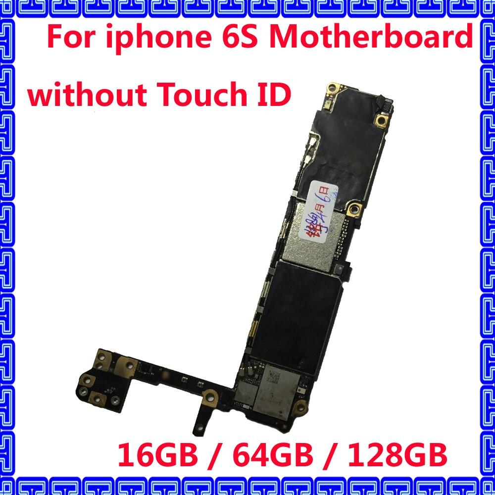 16 GB/64 GB/128G8 sistema Original IOS placa lógica para iphone 6 S desbloqueado placa base sin ID táctil para iphone 6S placa base