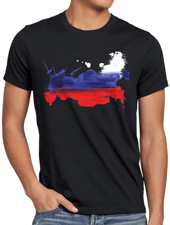 ¡Novedad de 2019! Camiseta para hombre Russland, Camiseta deportiva Herren Wm Em Fahne National-Flagge Fan-Artikel, camisetas divertidas para hombres, sudadera Shor