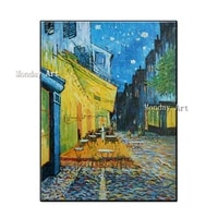 high quality hand painted vincent van gogh oil painting cafe terrace modern painting wall pictures for living room home decor