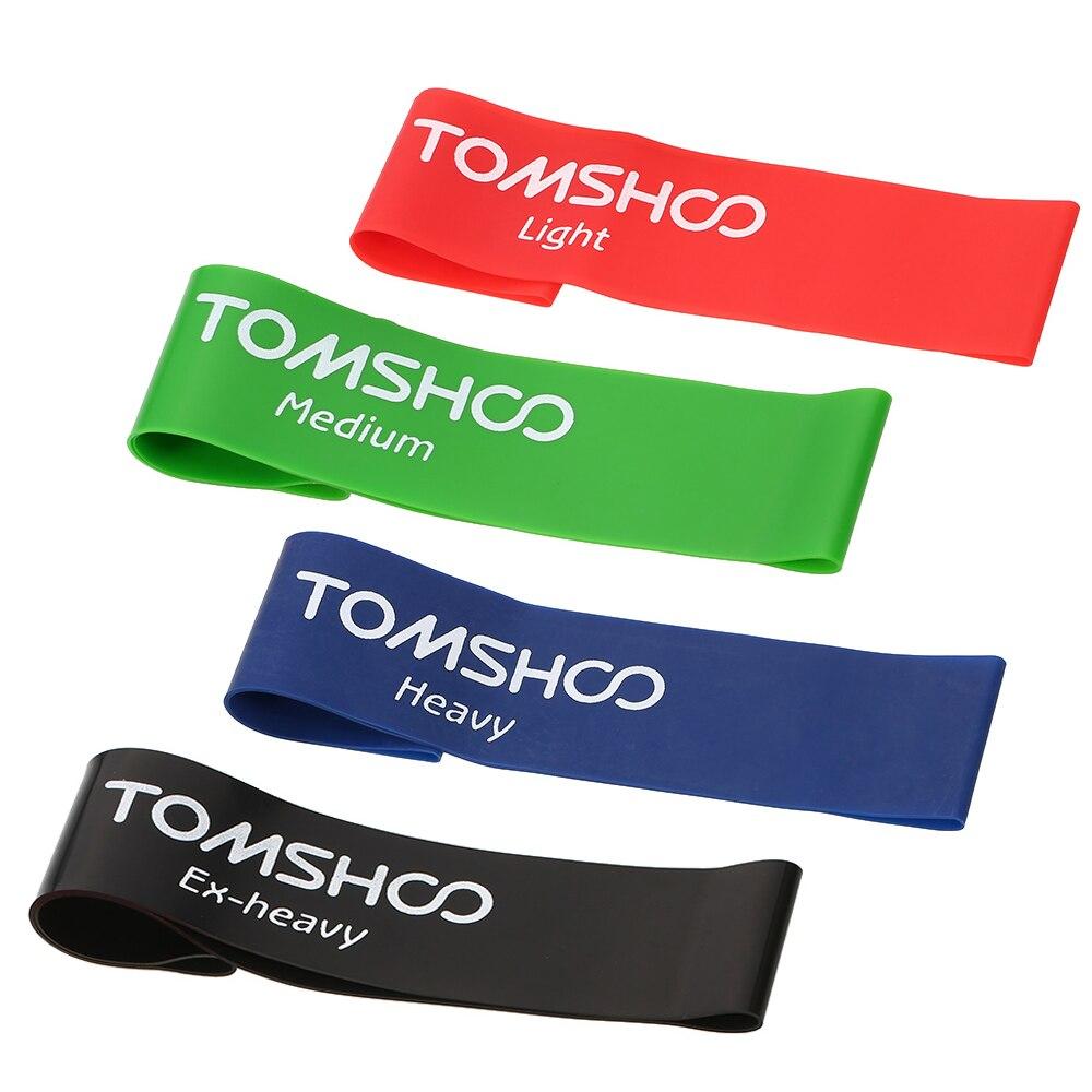 Banda de látex resistente TOMSHOO, bandas de goma de entrenamiento para gimnasio, equipo de Fitness para terapia física en el hogar, correas para ejercicio