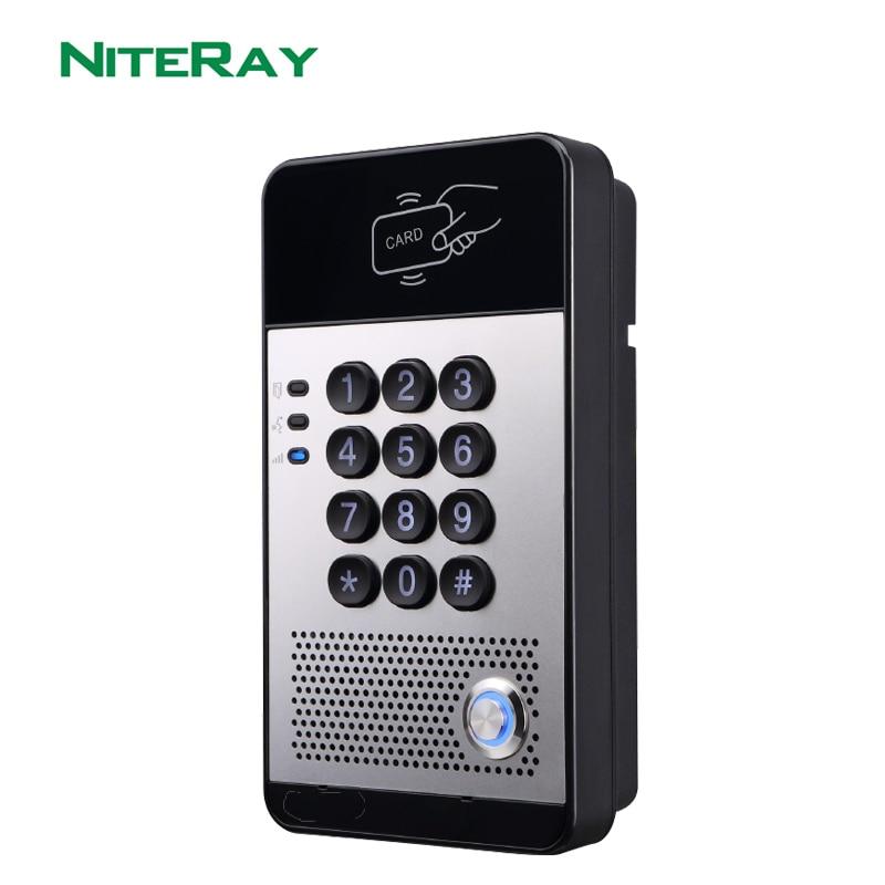 Niteray q506 sip porta telefone intercomunicador porta de controle acesso à prova dwaterproof água ip65 suporte poe