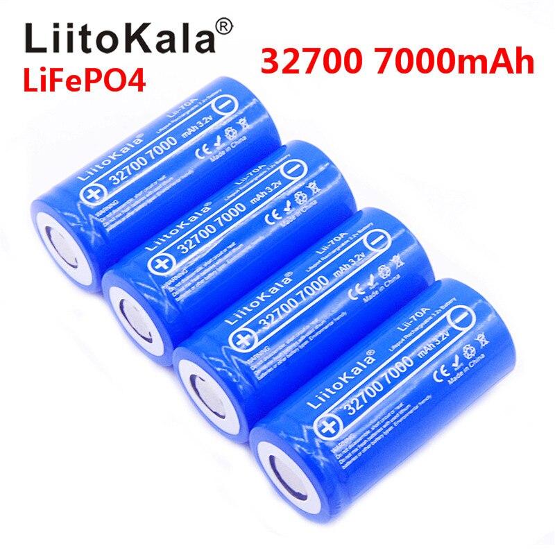 Nuevo 2020 Lii-70A LiitoKala 3,2 V 32700 de 6500 mah 7000 mAh batería de la batería LiFePO4 35A 55A de alta potencia continua máxima de descarga de la batería