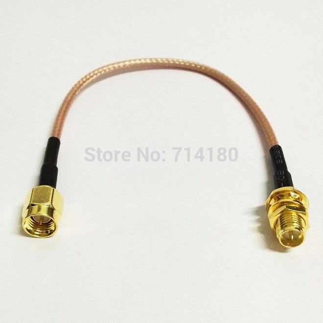WI-FI adaptador de Antena cabo de extensão SMA plugue macho para RP SMA fêmea RG316 15 cm 6 inch atacado