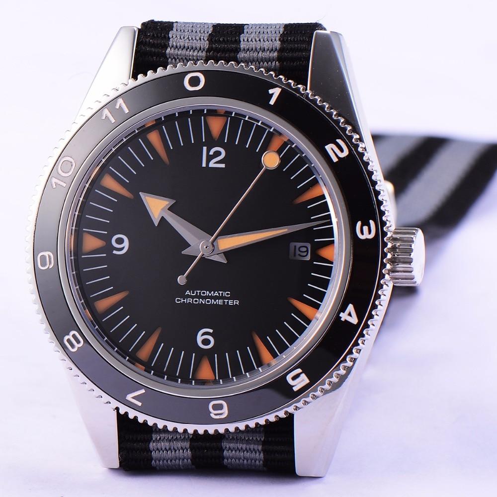 Corgeut-ساعة يد سوداء معقمة للرجال ، مينا سيراميك مضيئة ، أوتوماتيكية ، ميكانيكية ، ماركة فاخرة ، 41 مللي متر ، Miyota 8215