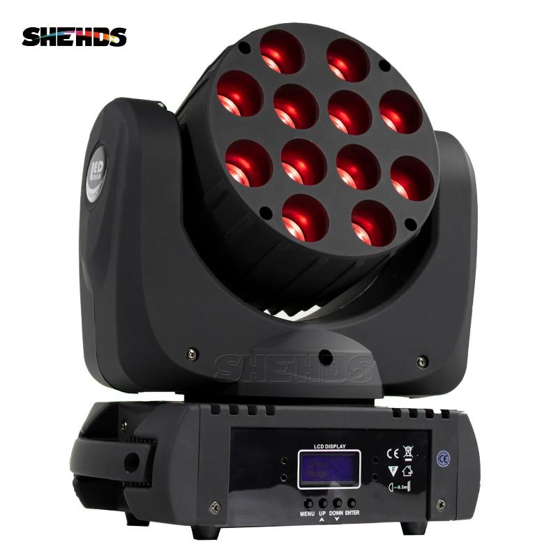 مصباح مسرح DMX LED مع رأس متحرك 12x12w RGB ، إضاءة مسرح احترافية DJ ، سعر المصنع ، شحن سريع ومجاني