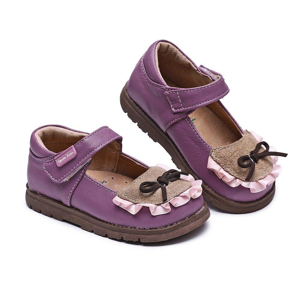 Zapatillas de deporte infantiles de piel de oveja con lazo de alta calidad marca TipsieToes para niños y niñas 2109 otoño primavera 62103