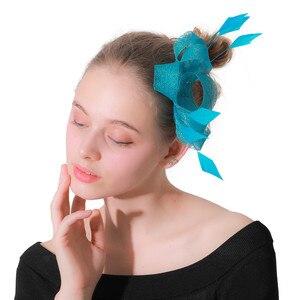 Cute Girls Fascinator Sinamay Headwear Party Hair Clips Ladies Female Elegant Hair Hoop Fascinating Womens Hair Accessories