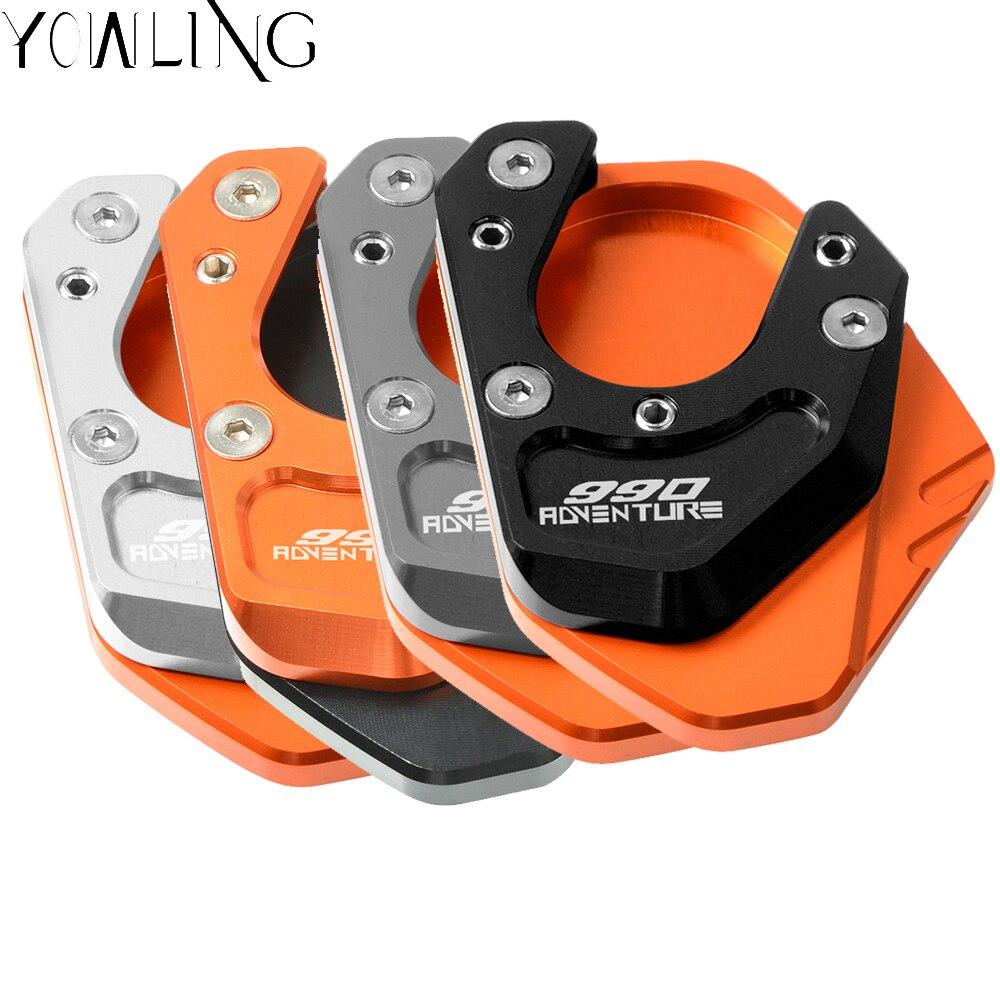 Para KTM 990 aventura 2006, 2007, 2008, 2009, 2010, 2011, 2012 soporte lado ampliadora pie soporte extensión tiro Pad placa Base