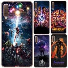 Marvel Super Heroes Avengers: endgame Silikon Phone Cases Abdeckung Für Samsung Galaxy A7 2018 A750 A10 A30 A50 M10 M20 A6 A8 2018