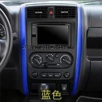 2 colors for choice for suzuki jimny 2011 2015 metal central control instrument panel accessories trim 2 pcs set