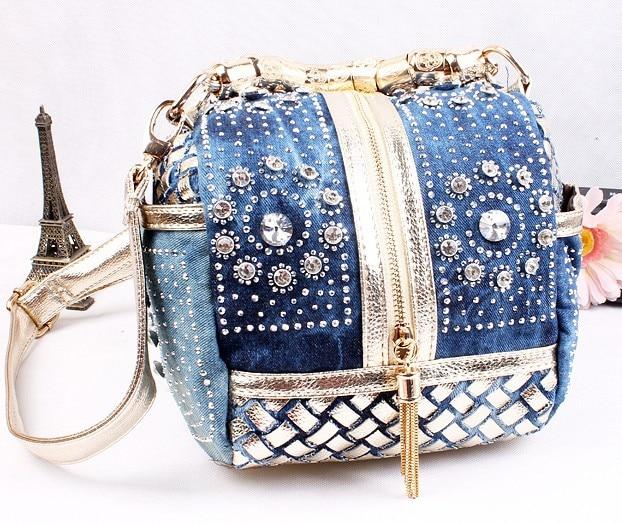 Designer Woven Women Handbag Famous Brand Rhinestone Totes Shoulder bag Luxury Bags