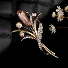 ZOSHI grande fleur en cristal grande broche raisin broches et broches bijoux de mariage Bijouterie Corsage robe manteau accessoires