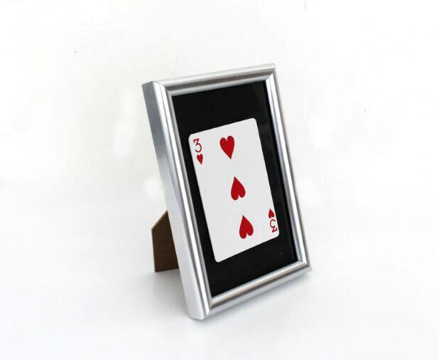 Tarjeta firmada a través del marco (11cm * 16 cm) equipo mágico profesional, ilusiones de magia para magos, trucos de magia de primer plano, magia increíble
