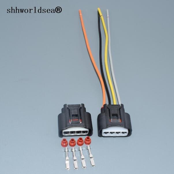 Shhworldsea 1SETS 2,2mm 4pin para Toyota Lexus Camry Corolla Rav4 conector Highlander bobina de encendido conector de clavija 7283-7449-30