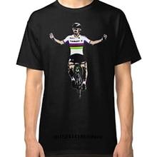 Peter Sagan Tee Bicycle Mens Black T-Shirt Vogue Printing Casual Tee Quality O Neck Short Sleeve