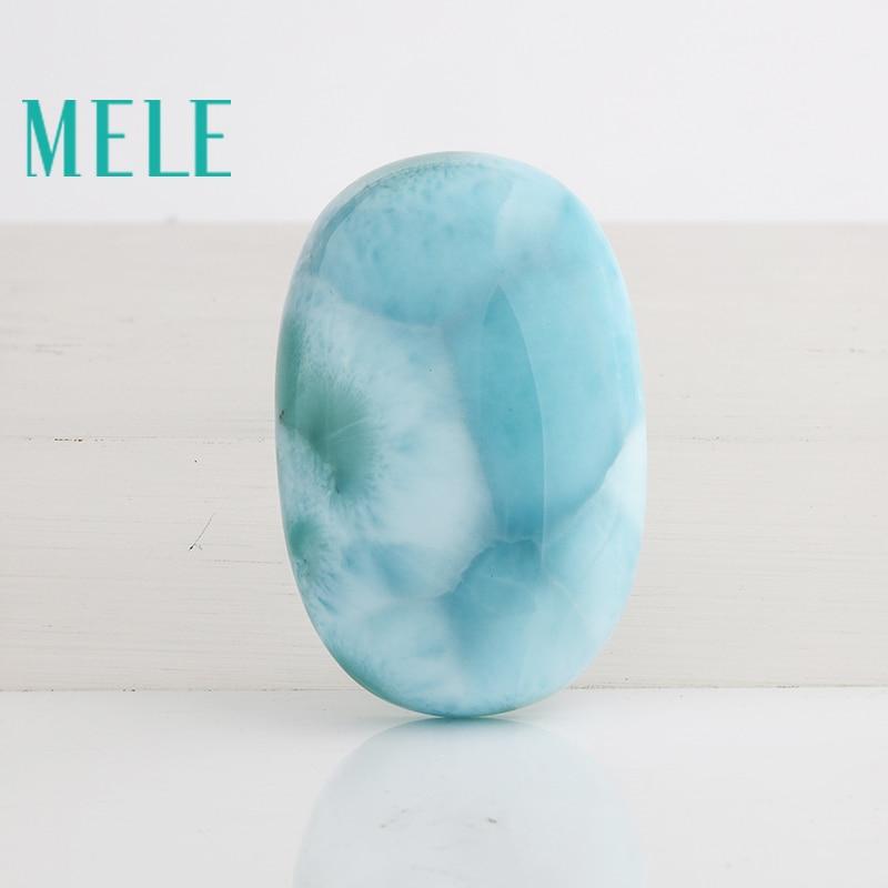 الحجر الطبيعي الأزرق لاريمار ، البيضاوي 31.5 مللي متر * 20 مللي متر ، 14.04 جرام ، جميل اللون الأزرق ، مجموعة نادرة ، نقية ونظيفة