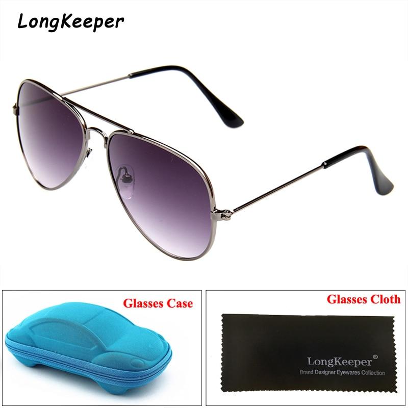 Gafas de sol para niños, estilo Piolt, gafas de sol para niños, gafas de espejo para niño con estuche, caja, Retor, montura metálica, gafas UV400