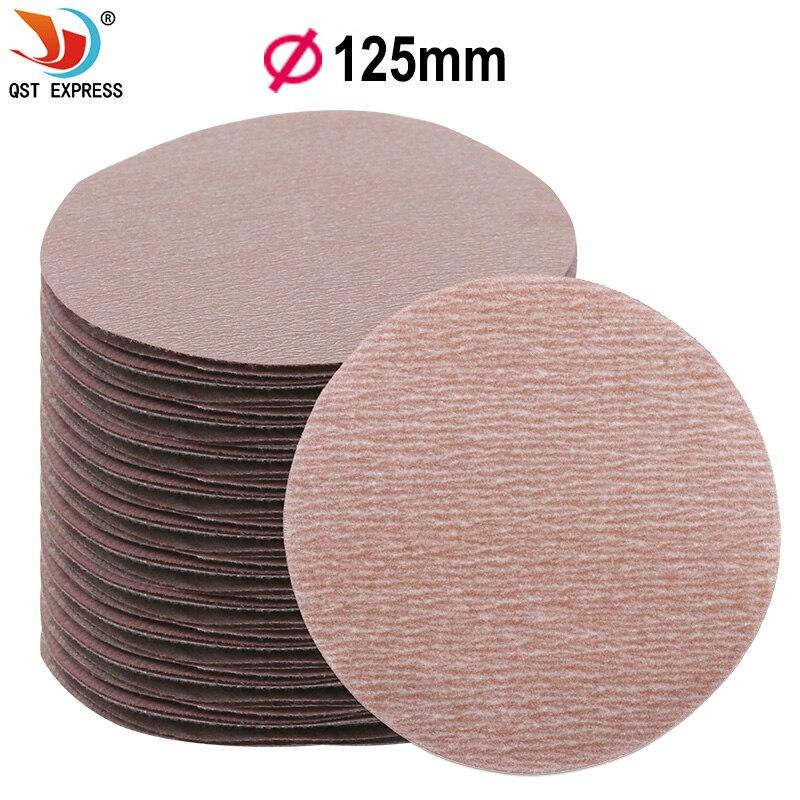 Discos de lija redondos de 5 pulgadas y 125mm de 7 uds, hojas de arena, lija de 80-1500 #, disco de lijado de velcro para lijadora